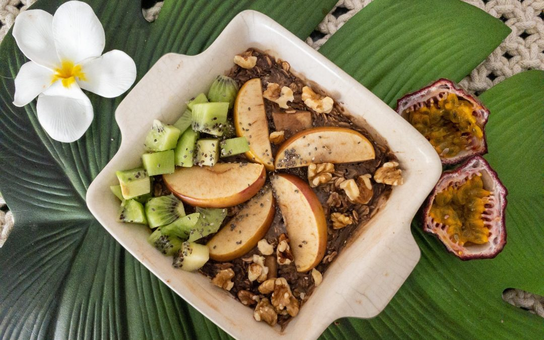 Recipe : Baked Choc Apple Oats